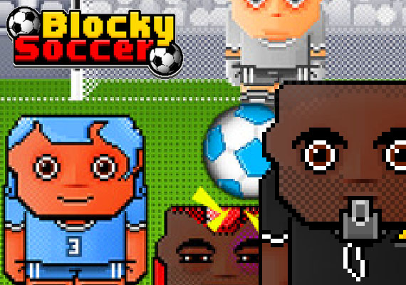 Get ready for the coolest soccer game this summer! You'll have to control a line of defenders and match the oncoming balls with your players' jerseys. While the crowds are chanting, bounce the ball and get the longest streak possible. Each player has two lives and if you use the wrong one, he's out of the pitch.  </br> 								 								</br> 								<center> 								<a href='https://itunes.apple.com/us/app/blocky-soccer-goal-kick-defence/id888677776?mt=8' class='external'><img src='_include/img/appstore.png'</a>